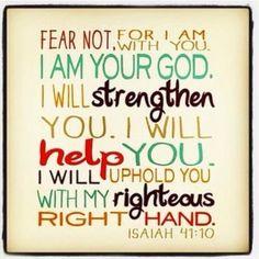 Isaiah 41:10, Bible Quote, Inspiring Quotes