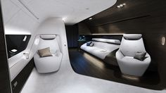 Mercedes-Benz designs a luxurious private jet cabin for Lufthansa