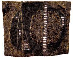 ABAKANOWICZ, MAGDALENA  Raszyn-Falenty 1930  Ohne Titel.  Wandteppich mit abstrakter Darstellung in Brauntönen,  ca. 106x132 cm