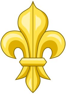 """Fleur-de-lis - Wikipedia The fleur-de-lis/fleur-de-lys (plural: fleurs-de-lis)[pron or flower-de-luce is a stylized lily (in French, fleur means """"flower"""", and lis means """"lily"""") that is used as a decorative design or symbol. Mobile Mardi Gras, French Symbols, Catholic Holidays, Christian Symbols, Mellow Yellow, Coat Of Arms, Love And Light, Embroidered Flowers, Middle Ages"""