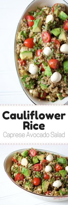 This side dish is full of the traditional caprese flavors but you are getting an extra serving of vegetables thanks to the cauliflower rice. #VeggieGood in partnership with @realbirdseye