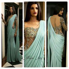 Saree Dhoti Saree, Saree Gown, Pakistani Bridal Wear, Indian Bridal, Indian Beauty Saree, Indian Sarees, Indian Attire, Indian Wear, Indian Dresses