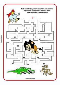 Un modo divertente ed originale per ripassare le tabelline? Il labirinto! Aiuta Celestino a portare una banana alla scimmia seguendo i numeri della tabellina del 3  #tabelline #matematica #matematicadivertente #labirinto #schededidattiche #didattica #materialedidattico #mariapatriziapanaro #carlopanaro #lucianogatto #geoandcompany #scuolaprimaria #primaryschool #scuola  #maestre #maths #insegnare #celestino #ilmondodigeo Math 4 Kids, Math 2, Homeschool, Diagram, Coding, Children, Crafts, Fashion, 3 Year Olds