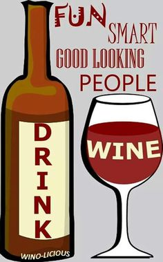 Wine Funnies - Define a Wino:_____drink Wine.  [Wino-Licious/FB] (Wine Bottle & glass Illustration Quotes) #cBrowns #cRed  #winocabulary