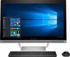 "HP Pavilion 27"" Touch-Screen All-In-One - Intel Core I7 - 12GB Memory - 1TB Hard Drive Silver V8P05AA#ABA"