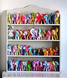 Toy Collection on a Hanging Decorative Shelf - MattandShari.com