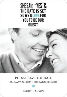 This is the save the date I have wanted to use even before I was engaged! It is so cute and a magnet at that!! :)