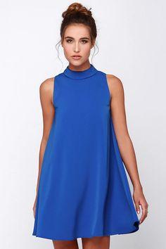 JOA Skies Above Blue Swing Dress