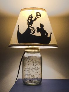 Rapunzel Mason Jar Character Lamp by PracPerfCrafts on Etsy Disney Diy, Casa Disney, Deco Disney, Disney Pixar, Disney Home Decor, Disney Crafts, Disney And Dreamworks, Rapunzel And Flynn, Disney Rapunzel