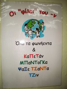 wall decoration for school Primary School, Elementary Schools, Learn Greek, Teaching Writing, Preschool Worksheets, Special Education, Kids And Parenting, Grammar, Back To School
