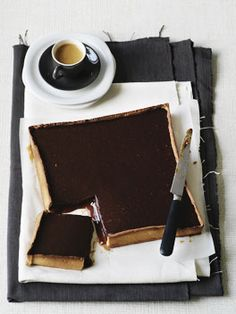 // Chocolate and caramel tart