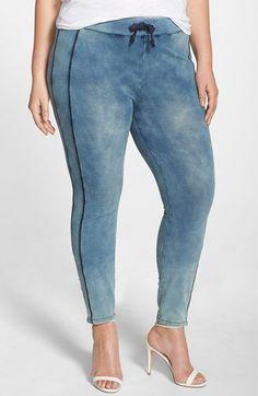 c617443444b Poetic Justice  Naomi  Stretch Knit Denim Jogger Pants (Plus Size)