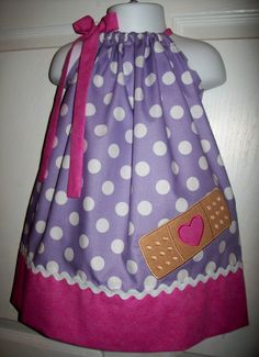 Doc McStuffins inspired Bandaid Pillowcase Dress Perfect For Birthday on Etsy, $28.00