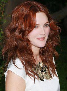 10 Red Hair Color Ideas - Best Red Hair Colors in Hollywood - Harper's BAZAAR Drew Barrymore!!!