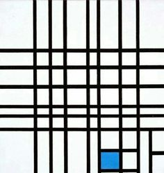 Composition no.12 with blue, 1942, Piet Mondrian