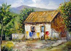 Resultado de imagem para pintura casarios tela