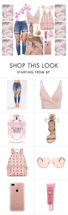 """como la flor"" by linabgarza on Polyvore featuring Victoria's Secret, Gianvito Rossi, MCM, Belkin, Lancôme and Michael Kors"