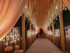 Looking for Floral mandap decor idea with hanging floral strings? Browse of latest bridal photos, lehenga & jewelry designs, decor ideas, etc. on WedMeGood Gallery. Wedding Reception Entrance, Wedding Hall Decorations, Desi Wedding Decor, Marriage Decoration, Wedding Walkway, Wedding Gate, Wedding Halls, Wedding Mandap, Wedding Receptions