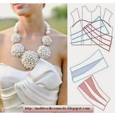 collars modeling detail and collar foot design Fashion Sewing, Diy Fashion, Ideias Fashion, Dress Sewing Patterns, Clothing Patterns, Sewing Clothes, Diy Clothes, Costura Fashion, Pattern Draping