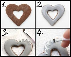Learn how to make these cute Heart in Heart cookies by @Lila Loa via #TheCookieCutterCompany