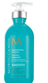 Becke is loving the Moroccanoil smoothing lotion it's a  All-in-one blow-dry lotion for effortless styling it leaves hair touchably soft, smooth and manageable. Its lightweight formula provides a medium hold and definition while taming frizz and resisting humidity.