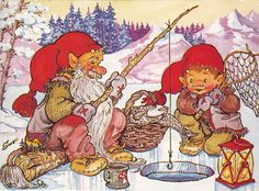 Trolls and gnomes. - Юлия К - Picasa Web Albums Magical Creatures, Fantasy Creatures, Gnome Pictures, David The Gnome, Kobold, Scandinavian Gnomes, Elves And Fairies, Old Cartoons, Forest Animals
