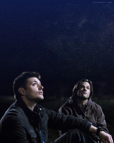 """They'd park her in the middle of nowhere, sit on the hood, and watch the stars...for hours...without saying a word."" 5x22 Swan Song #Supernatural"
