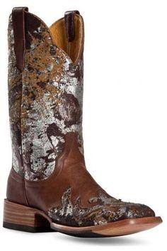 Cinch Rich Chocolate Cowhide Boots Urban