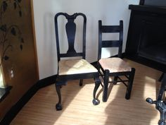 3 heart-shaped chairs 16 ladder-back chairs