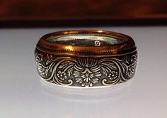 1862 Queen Victoria Rupee Coin Ring. GORGEOUS!!!