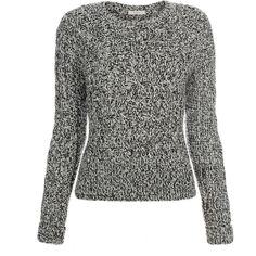 Paul Smith Women's Grey Chunky Twisted Cable-Knit Sweater (1.040 RON) ❤ liked on Polyvore featuring tops, sweaters, grey crew neck sweater, crop top, grey crewneck sweater, chunky sweater and cable knit sweater