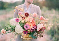 wedding flowers centerpiece   Bohemian Wedding  Photography: Odalys Mendez  Flowers: Cloth of Gold Flowers