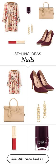 """""""Untitled #5107"""" by mie-miemie on Polyvore featuring Yves Saint Laurent, Dolce&Gabbana, DANNIJO and Nails Inc."""