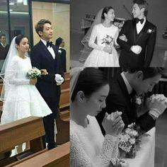Jung Jihoon and Kim Tae Hee finally tie the knott on Jan Flower Crown Hairstyle, Crown Hairstyles, Songsong Couple, Bi Rain, Kim Tae Hee, Jan 2017, Married Couples, K Idol, Ji Sung