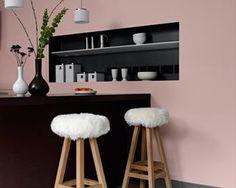 Artwork For Home Decoration Key: 8542020038 Interior Pastel, Deco Rose, Pink Walls, Interior Design Inspiration, Wall Colors, Decoration, Interior Decorating, Sweet Home, Room Decor