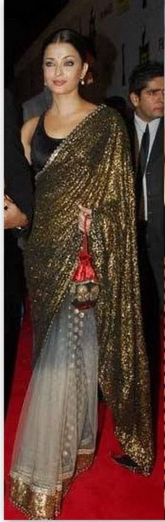 Check out Aishwarya Rai in designer saree from Sabyasachi.