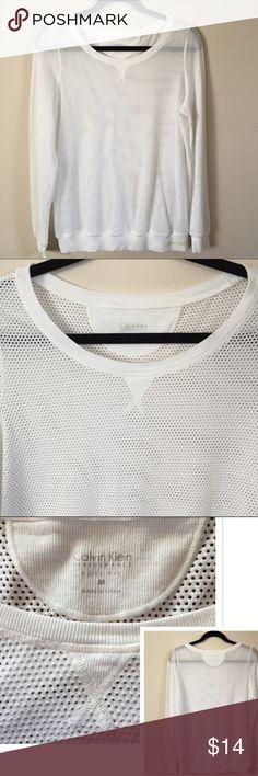 Selling this Calvin Klein super soft mesh pullover on Poshmark! My username is: kimdenean. #shopmycloset #poshmark #fashion #shopping #style #forsale #Calvin Klein #Tops