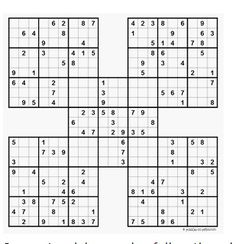 photograph regarding Free Printable Sudoku 6 Per Page known as 115 Perfect Sudoku pictures within 2019 Sudoku puzzles, Samurai