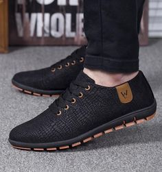 Men's casual breathable low lace up shoes - men's style brand fashion attire affordable sneakers - #mensshoes #menstyle #menfashion Lace Up Shoes, Men's Shoes, Dress Shoes, Flat Shoes, Shoes Men, Dress Clothes, Mens Fashion Shoes, Sneakers Fashion, Men Sneakers