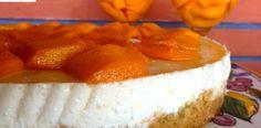 Cheesecake alle pesche senza burro, la versione leggera del dolce americano di Dolci senza burro
