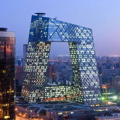 The Beijing CCTV tower, iconic since its conception in 2002, is officially completed.