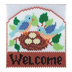 Birds Nest Beaded Banner Kit  #Herrschners #Home