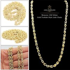 Buy Yellow Gold Turkish Chain, White Gold Turkish Chain or Rose Gold Turkish Chain from to with fast and priority-based delivery in the USA. Turkish Fashion, Turkish Style, Or Rose, Gold Chains, Diamond Cuts, Gold Necklace, White Gold, Pendants, Jewels