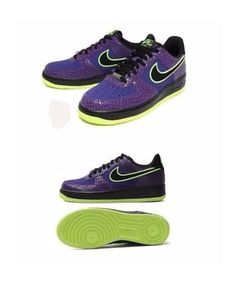 554f7e350f0a2e MEN S NIKE AIR FORCE 1 UPTOWN SHOES SIZE 10 COURT PURPLE BLCK-VOLT 488298-503   Nike  AthleticSneakers
