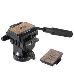YUNTENG YT-950 DSLR Camera Video Fluid Drag Tilt Pan Damping Ball Head for DSLR Tripod Slider Rail