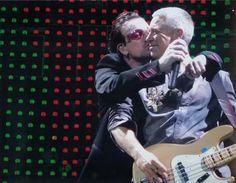 Bono love and kissing compilation @ www.wikilove.com
