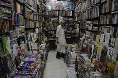 A bookshop in Esplanade, Calcutta, India.