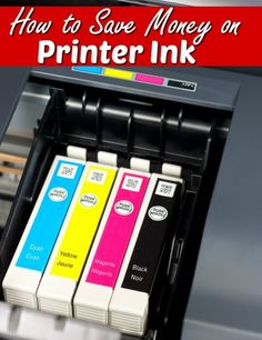 When homeschooling, working from home, or couponing you can use up a lot of printer ink. I've been there at one point using a cartridge a week! This opened my eyes to force me to find ways to save money. See how I cut my ink costs in half!