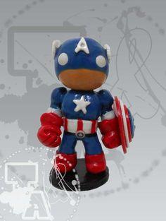 Capitán América modelado en porcelana fría