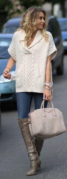 Con cuello en v suéter mano mano de punto de las mujeres